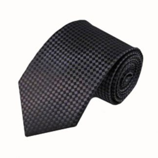 Charcoal Small Square Basket Weave Men's Tie 9307-0