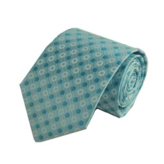 Aqua, Turquoise Polka Dot's Men's Tie 10246-0