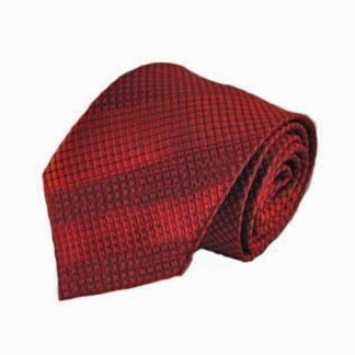 "63"" Red, Black Basket Weave XL Men's Tie 10079-0"