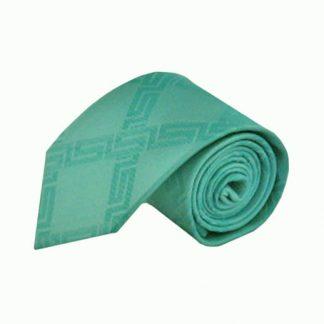Seafoam Green Criss Cross Tone on Tone Men's Tie 10293-0