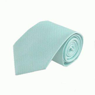 Aqua Mini Basket Weave Tone on Tone Men's Tie 10955-0