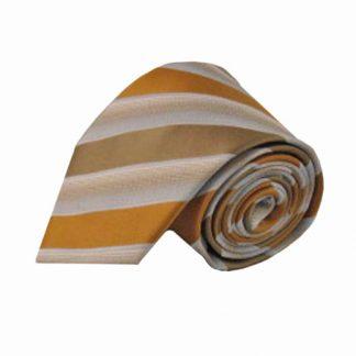 Orange, Taupe Wide Stripe Men's Tie 1543-0