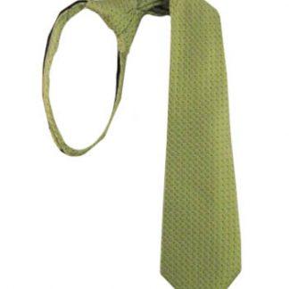"14"" Boys Green, Black Tone on Tone Small Dot Zipper Tie 4401-0"