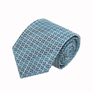 Tiffany Blue, Navy Geometric Men's Tie 8940-0