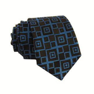 Royal Blue, Black Diamond Skinny Men's Tie 9339-0