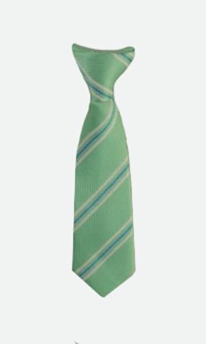 "8"" Mint, Turquoise, White Stripe Boy's Clip-On Tie 9355-0"
