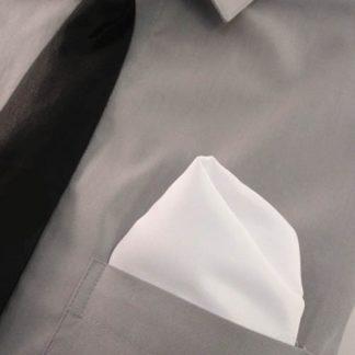 White Solid Pocket Square 9734-0