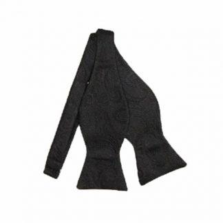 Black Paisley Tone on Tone Self-Tie Bow Tie 10387-0