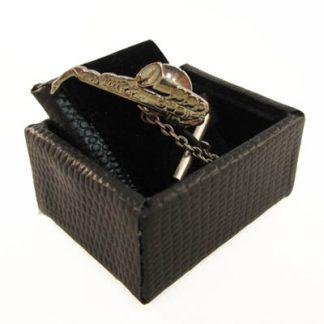 Specialty Silver Saxaphone Tie Tack 11123-0