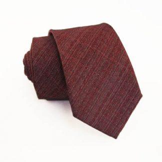 Burgundy Textured Men's Skinny Tie 5204-0