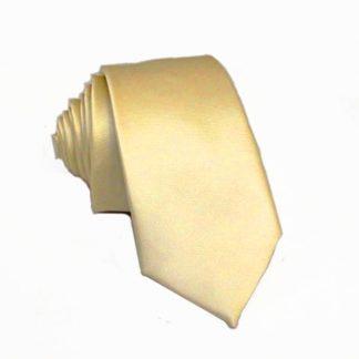 Beige Solid Men's Skinny Tie 8336-0