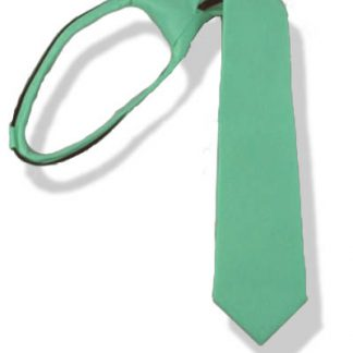 "17"" Boy's Tiffany Blue Zipper Tie 1555"