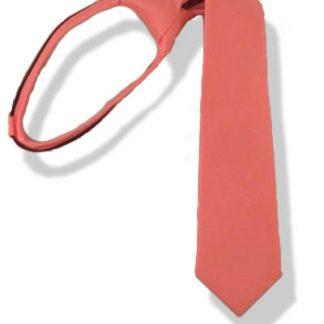 "14"" Boy's Salmon Zipper Tie 3492"