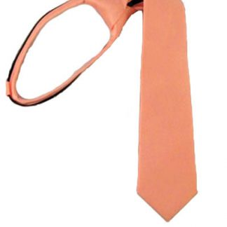 "14 "" Bright Coral Zipper Tie"