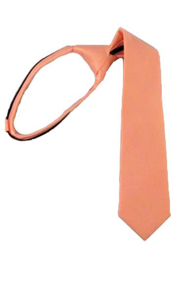 """14 """" Bright Coral Zipper Tie"""