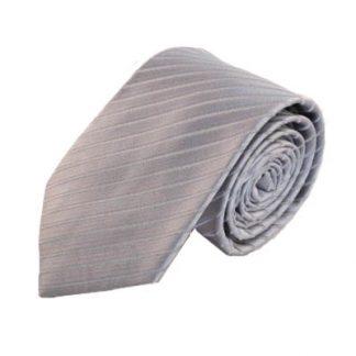 """63"""" XL Silver Tone on Tone Striped Men's Tie 9108-0"""