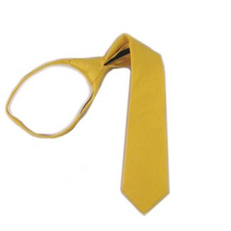 "14"" Bright Yellow Solid Zipper Boy's Tie 9854-0"