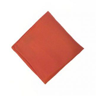Bright Salmon Solid Pocket Square 10437-0