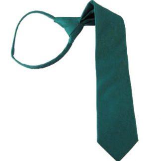 """14"""" Solid Jade Boy's Zipper Tie 4318"""