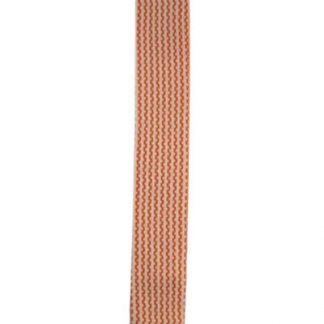 Orange & Cream Vertical Striped Knit Tie 5560