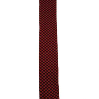 Black & Red Checker Knit Tie