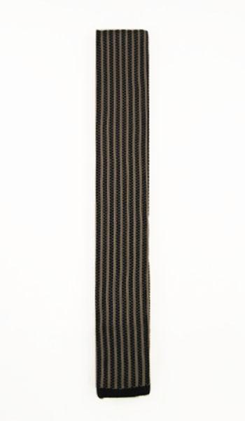 Black, Taupe Verticle Stripe Knit Men's Tie 5557-0