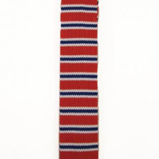 Red, Blue, White Stripe Knit Men's Tie 1121 -0