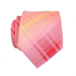 Peach, Coral Criss Cross Skinny Men's Tie 4186-9124