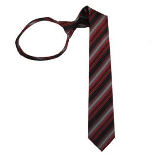 """21"""" Bright Red Silver & Black Striped Tie 7397"""