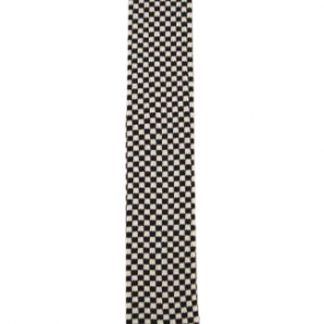 Black and White Check Knit Men's Tie 8027
