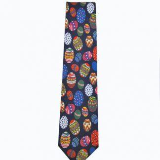 Easter Eggs Navy Men's Tie 7732-0