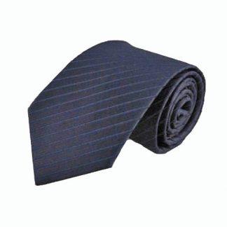 "63"" XL Navy T/T Stripe Men's Tie 2294-0"