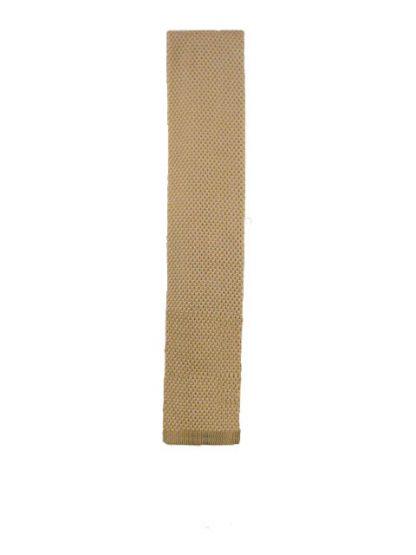 Khaki Solid Knit Men's Tie 5039