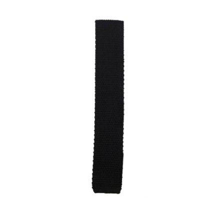 Black Solid Knit Men's Tie 5895
