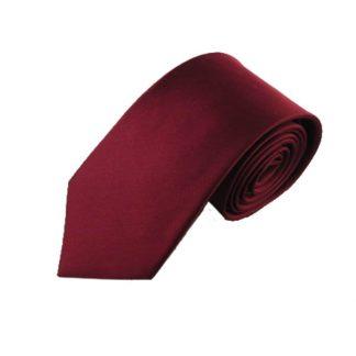 """63"""" XL Burgundy Silk Woven Men's Tie 6017"""