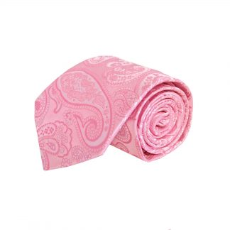 Pink & White Paisley Men's Tie 6441-0
