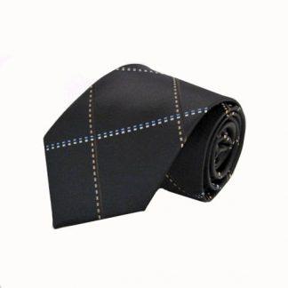 Brown Large Grid Men's Tie 7339-0