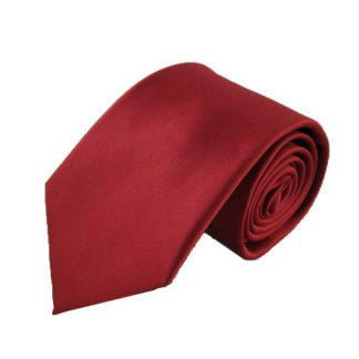 Maroon Solid Tone on Tone Microfiber Men's Tie w/ Pocket Square 7585