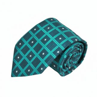 Teal & Blue Square Men's Tie w/Pocket Square 9548-0