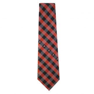 MLB Arizona Diamondbacks Red & Black Checkered Men's Tie 4475
