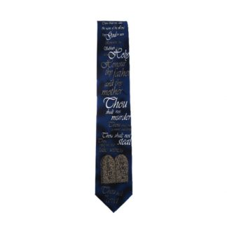 10 Commandments Men's Tie 4858