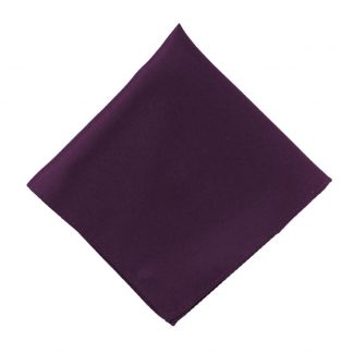 Dark Purple Solid Pocket Square 5820