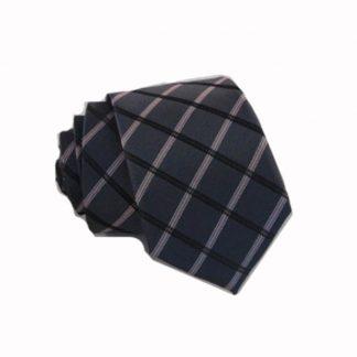 Charcoal, Pink Criss Cross Skinny Men's Tie 6116-0