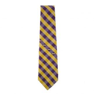 NBA LA Lakers Purple, Gold & White Checkered Men's Tie 8057