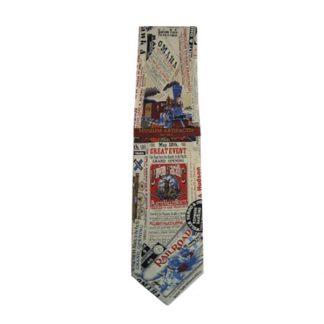 History of the Railroad - Greatest Event Men's Silk Tie 11049