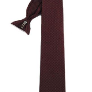 "21"" Clip-On Burgundy Squares Men's Tie 2744-0"