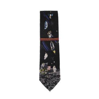 Man on the Moon Men's Silk Tie 4574