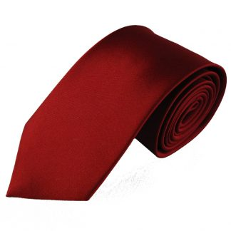 """63"""" XL Red Solid Silk Men's Tie 5179"""