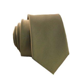 Khaki Horizontal Stripe Tone on Tone Skinny Tie 7859