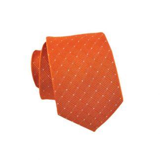 Orange w/Silver Dot Skinny Men's Tie 10530-0